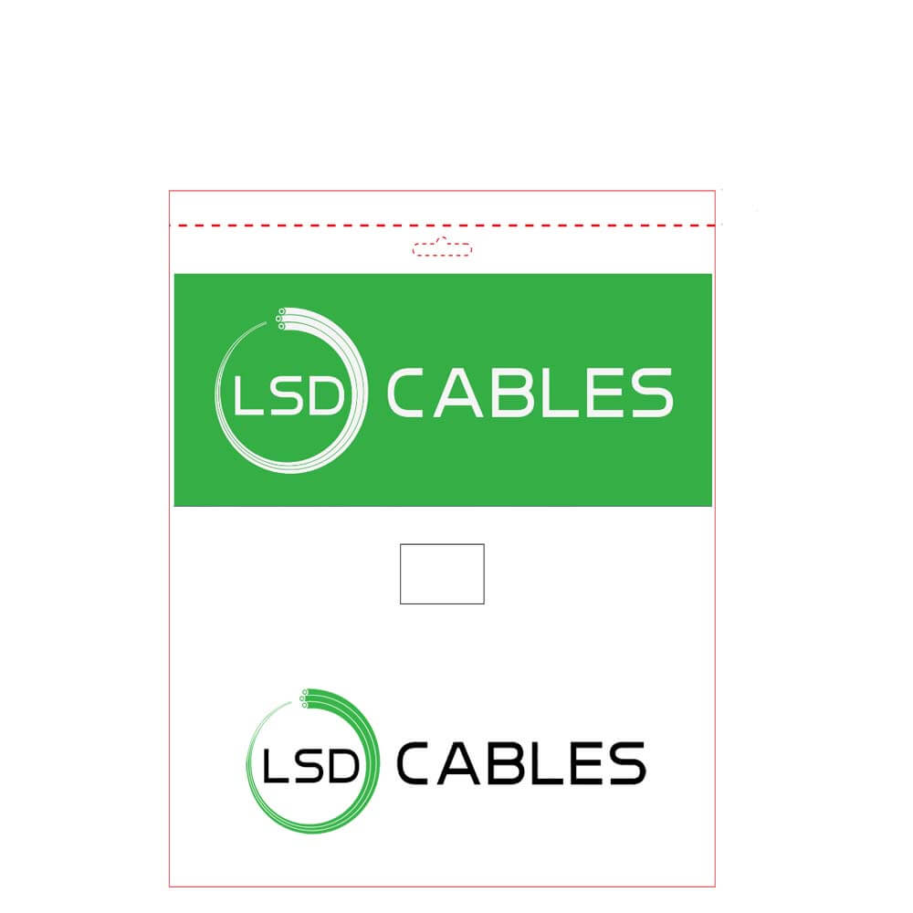 LSD CABLES Cat5e and Cat6 cable PE Bag package - Cat5e UTP Patch cord Cable L-P501