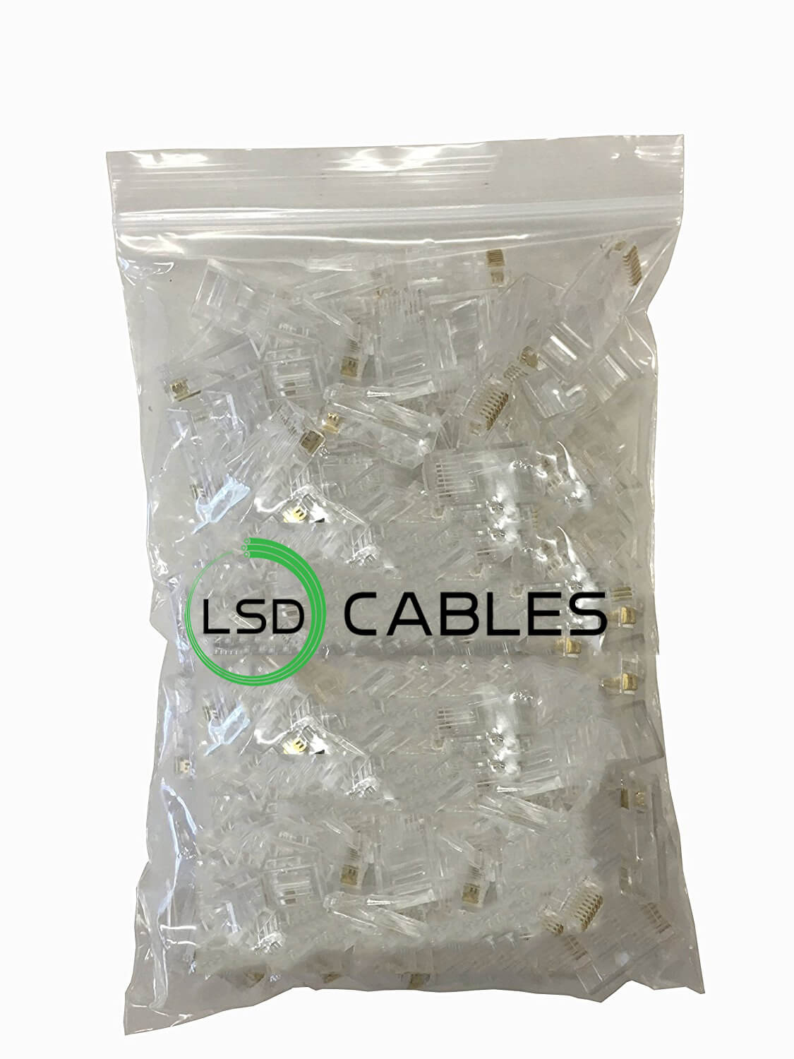 LSD CABLES RJ45 CONNECTOR CAT5ECAT6 Package in PE bag L T02 - RJ45 CONNECTOR CAT5E&CAT6 8P8C 6P6C L-T02