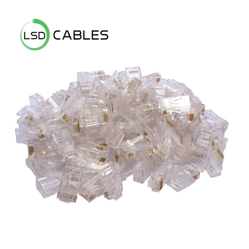 LSD CABLES RJ45 CONNECTOR CAT5ECAT6.L T02 - RJ45 CONNECTOR CAT5E&CAT6 8P8C 6P6C L-T02