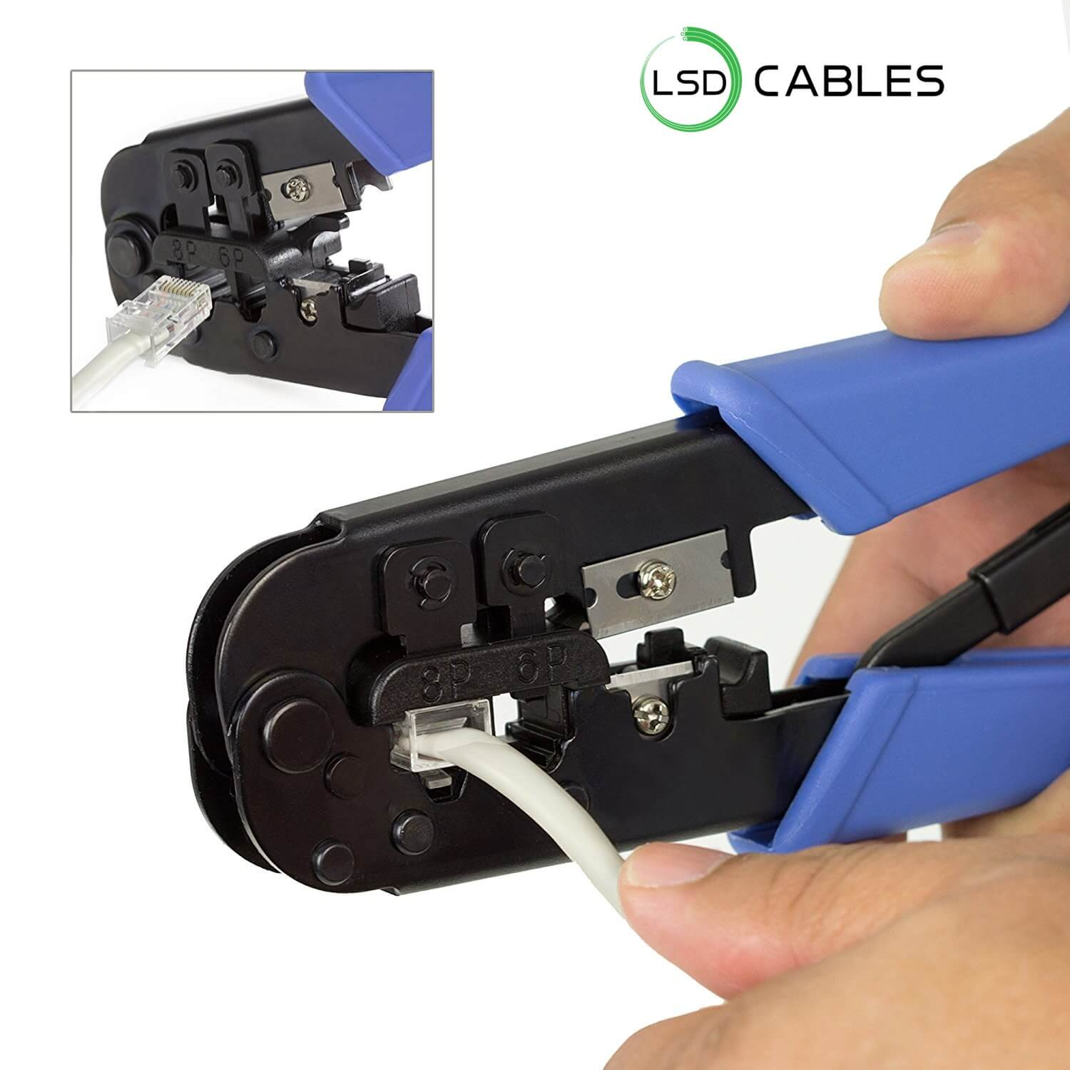 LSDCABLES RJ45 Crimping Tool L T01 2 - Crimping Tool Easy Handling RJ45 Connector  L-T01