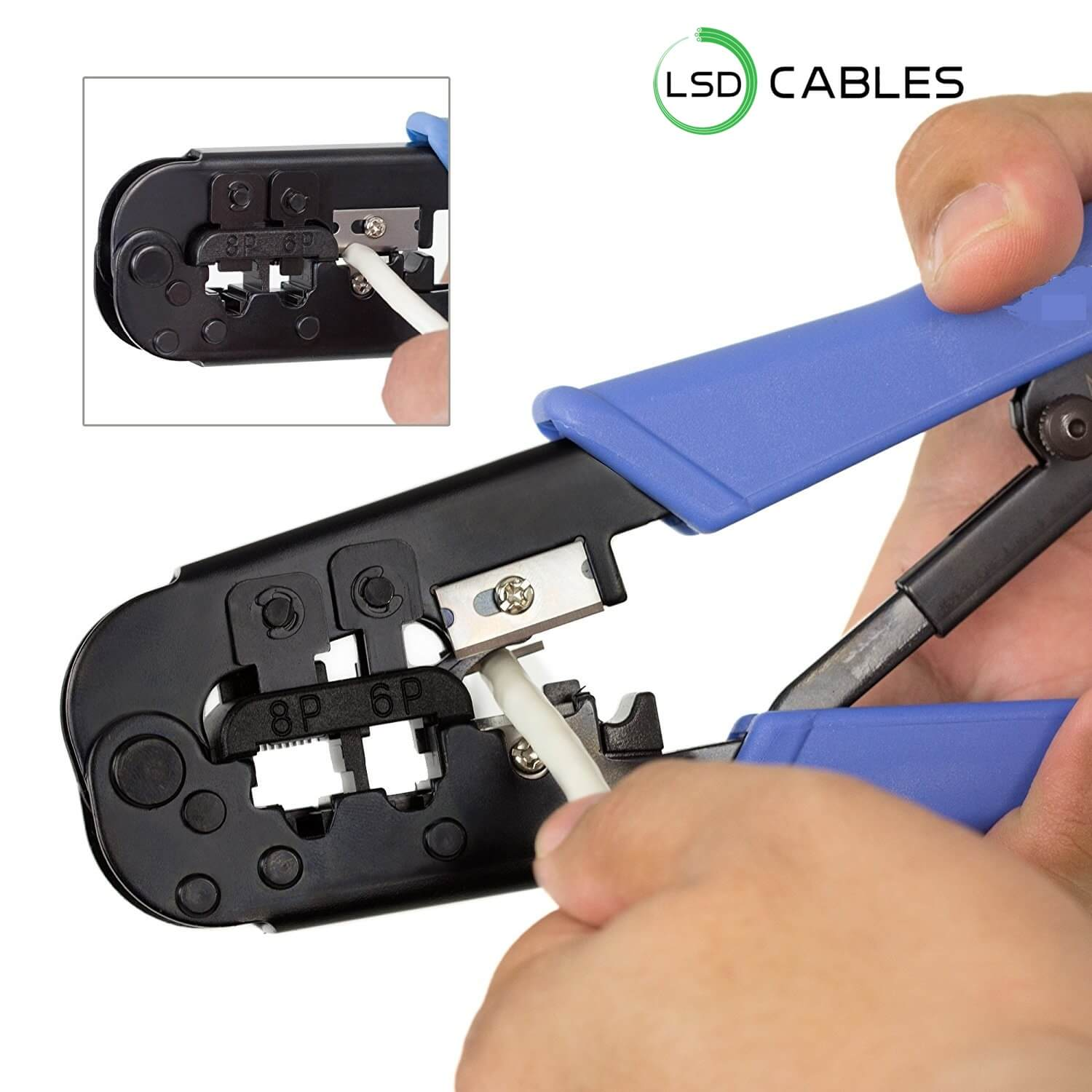 LSDCABLES RJ45 Crimping Tool L T01 4 - Crimping Tool Easy Handling RJ45 Connector  L-T01