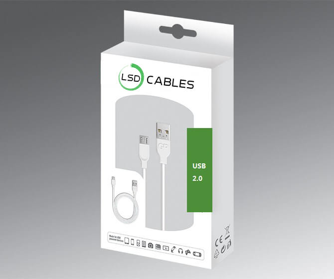 LSDCABLES USB CABLE PACKAGES - USB 2.0 A male to Micro B-male Data Cable Pro L-U02